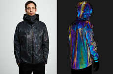 Cephalopod-Inspired Outerwear - The Vollebak Black Squid Jacket Changes Color According to Light