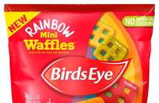 Vegetable-Packed Rainbow Waffles - Birds Eye's Rainbow Mini Waffles Contain No Artificial Colors