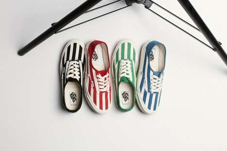 Interchanging Striped Sneakers