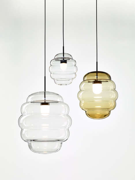 Elegant Sculptural Pendant Lamps