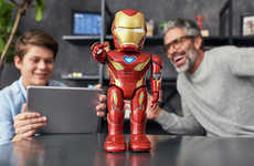 AR-Equipped Superhero Robots - The UBTECH Iron Man MK50 Robot is an Officially Licensed Toy