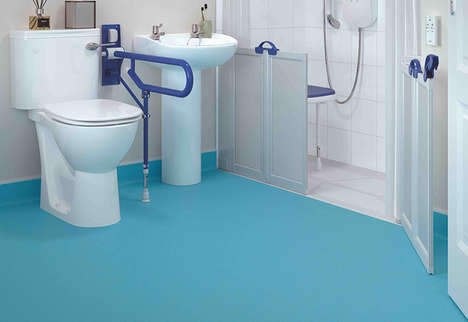 Anti-Slip Vinyl Flooring Solutions - AKW's New Range of Bathroom Tiles Comes in a Variety of Colors