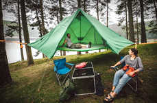 Triple-Purpose Camping Tents - The Tentsile Universe Tent Works Above or on the Ground and in Water