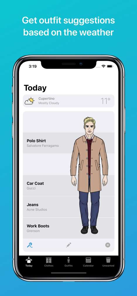 Male-Focused Outfit Apps - The Wardrobe App Offers Inspiration and Curated Recomendations