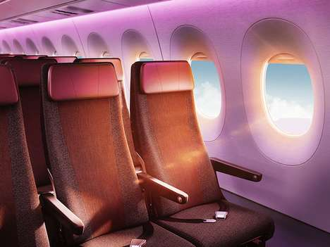 High-End Velvety Airplane Interiors - Virgin Atlantic Updates the Aesthetics of Its Airbus A350