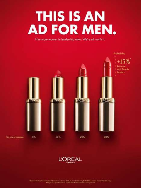 Bold Statement-Making Beauty Ads - This L'Oréal Ad is Advocating for More Women in Leadership Roles
