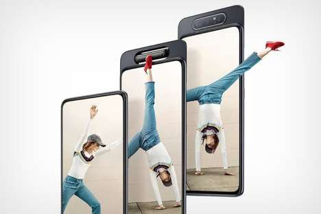 Rotating Camera Smartphones - The Samsung Galaxy A80 Boasts a Bezel-Free Design