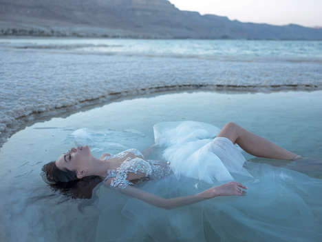 Dead Sea Wedding Lookbooks - Pnina Tornai's 2020 LOVE Collection Was Photographed at the Dead Sea