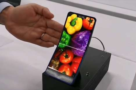 Clamshell Smartphone Prototypes - The Sharp Foldable AMOLED Smartphone is Compact