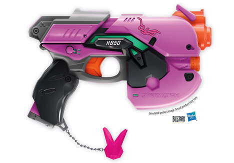 eSports-Themed Blaster Toys - The Overwatch D.Va Nerf Rival Blaster Replicates the Game Accessory