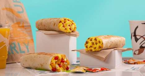 Complimentary QSR App Burritos - Taco Bell is Offering Free Grilled Breakfast Burritos to App Users