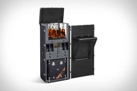 Customized Libation Trunks - The Louis Vuitton X Hennessy Trunk & Decanter is Impressively Opulent