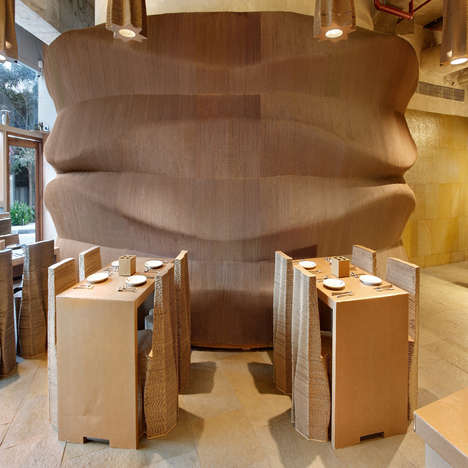 All-Cardboard Cafes