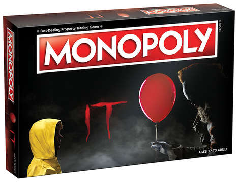Horror Film Board Games - IT Monopoly Features a Custom Game Board and Accessories