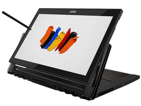 Artistic Easel-Inspired Laptops