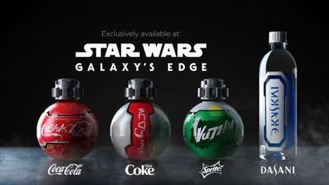 Galaxy-Themed Cola Bottles