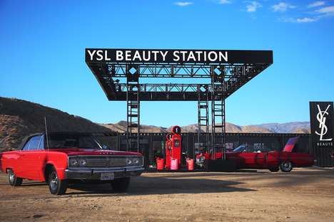 Gas Station Beauty Pop-Ups - The YSL Beauty Station Was One of Coachella's Instagram-Friendly Events