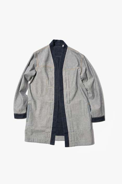 Inverted Denim Designs - BEAMS and Levi's Create a Collection that Explores Denim Materials