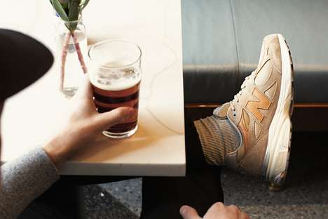 Dark Beer-Inspired Sneakers - New Balance's 990v3 Sneakers Boast a Makeover Entitled Dark Ale