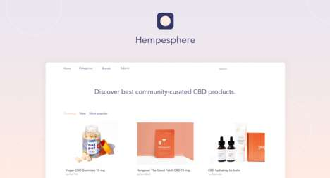 Curated CBD Product Platforms - 'Hempesphere' Showcases Community-Approved Wellness Products