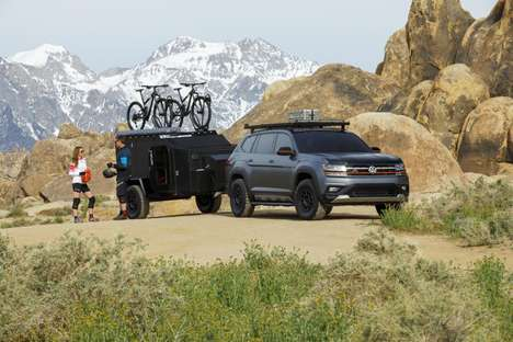 Cyclist Adventurer SUVs - The Volkswagen Atlas Basecamp Concept is Road Trip-Ready