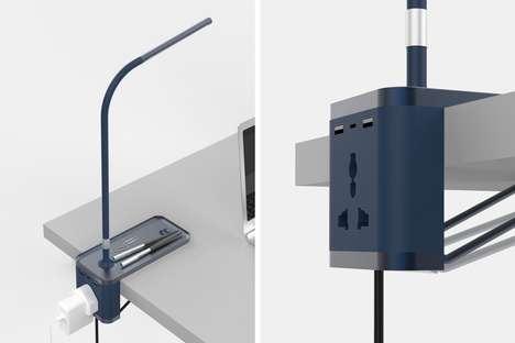 Convenient Power Access Lamps
