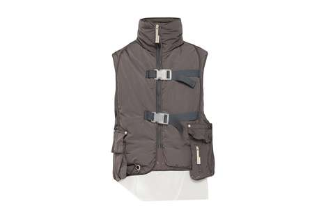 Functional Technical Padded Gilets - A-COLD-WALL* Launches a Hooded Technical Padded Overcoat