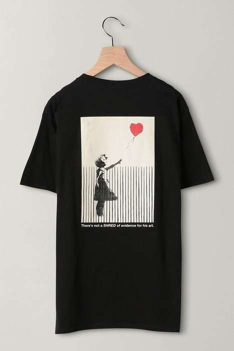 Street Art-Adorning Tees - BEAUTY & YOUTH UNITED ARROWS Spotlights Girl With Balloon With New Tees