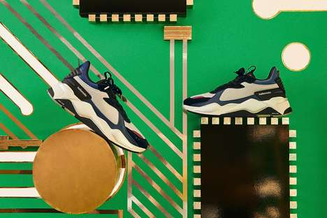 Retro Phone-Inspired Sneakers - PUMA and Motorola Join to Introduce the RS-X Motorola Sneaker
