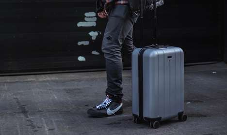 Lightweight Minimalist Suitcases - Chester's Minima Carry-On Spinner Suitcase Weighs Seven Pounds