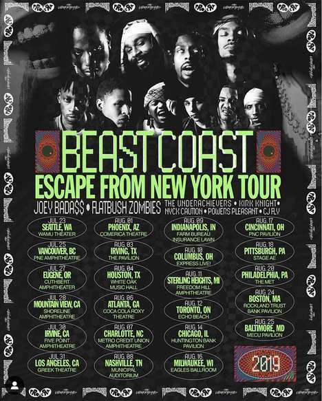 Charitable Hip Hop Tours - Beast Coast & PLUS1 Joined to Raise Funds for Public Education