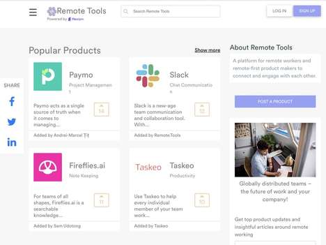 Remote Worker Product Platforms - 'Remote Tools' Pinpoints Tech Products for Remote Employees