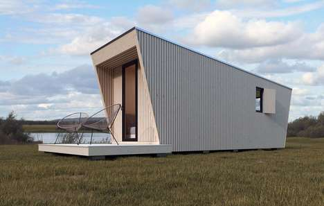 Modular Prefab Hotel Suites - The In-Tenta Design N-240 DROP Box Suites Can be Placed Anywhere