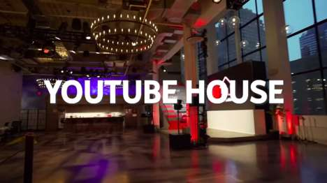 Experiential Media Pop-Ups - The YouTube House is an Experiential Destination in NYC