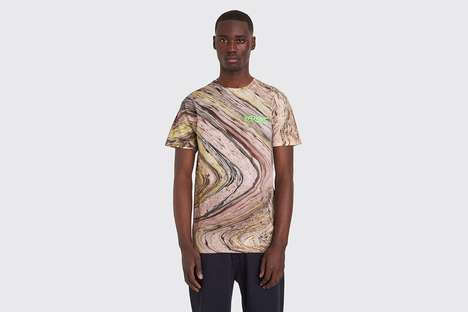 Colorful Marbled Dyed Shirts - C-N-Y Launches a Series of Soft Cotton Graphic Tees for SS19