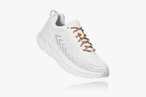 Contrasting Tonal Laced Sneakers - The Outdoor Voices and HOKA ONE ONE Launch New OV Clifton Shoes