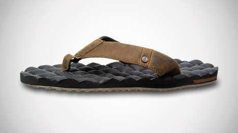 Cushioned Furniture-Inspired Sandals - The Volcom Recliner Sandals Provide a Cushy Experience