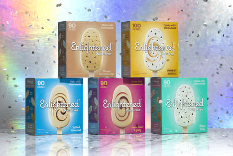 Low-Calorie Dairy-Free Frozen Bars - Enlightened Makes Dairy-Free Desserts with an Almond Milk Base