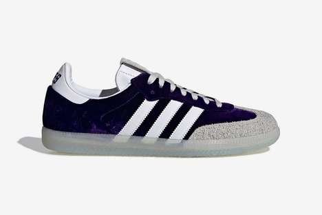Hidden Pocket Suede Sneakers - adidas Launches a Purple Haze Samba Sneaker Celebrating 4/20