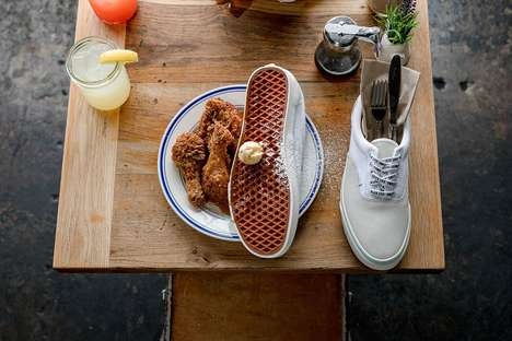Waffle-Themed Casual Sneakers - Vans and Sweet Chick Join on the Off the Waffles Sneakers