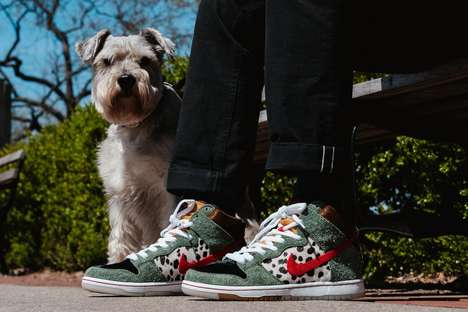 Animal-Printed Paneling Sneakers