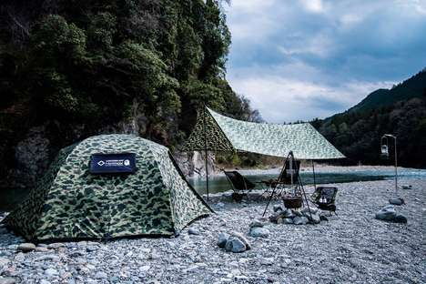 Camouflage Patterned Outdoor Equipment