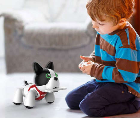 Trainable Robot Dog Toys - The Sharper Image Duke The Robotic Puppy Responds to Voice and Touch