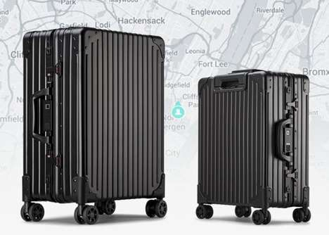 Durable Trackable Trip Suitcases