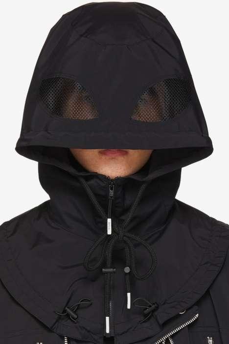 Sleek Face-Covering Hoods
