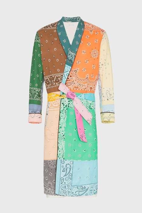 Multi-Tonal Bandana Overcoats
