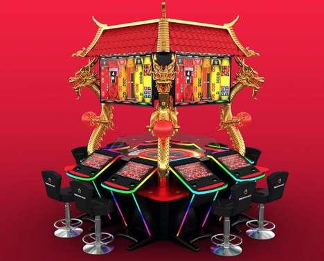 Ornate Casino Gaming Terminals