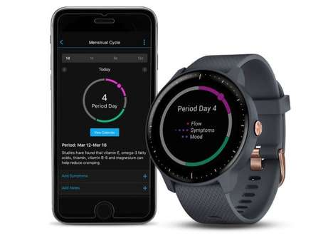 Menstruation-Tracking Wearable Updates - Garmin Has Introduced Menstrual Cycle Tracking for Users