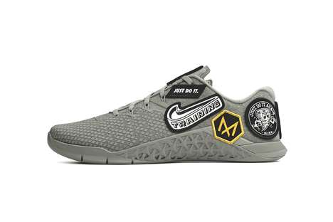 Patch-Accented Training Shoes
