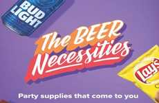 Convenience Store Libation Deliveries - 7-Eleven is Offering 'The Beer Necessities' in the 7Now App